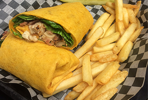 buffalo-chicken-wrap-gameday-grille-patio-waynesville