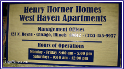 Henry Horner Homes Sandblasted Sign