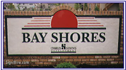 Bay Shores Sandblasted Sign