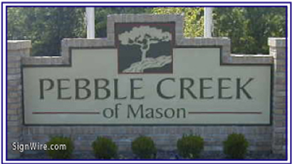 Pebble Creek Sandblasted Sign