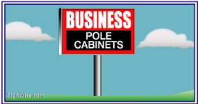Outdoor Lighted 4'x6' Pole Sign