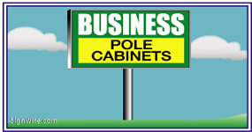 Outdoor Lighted 4'x8' Pole Sign
