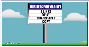 Outdoor Lighted 4'x6' Changeable Copy Pole Sign