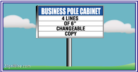 Outdoor Lighted 4'x8' Changeable Copy Pole Sign