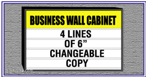 Outdoor Lighted 4'x6' Changeable Copy Wall Sign