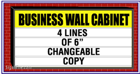 Outdoor Lighted 4'x8' Changeable Copy Wall Sign