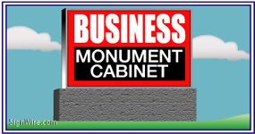 Outdoor Lighted 4'x6' Monument Sign