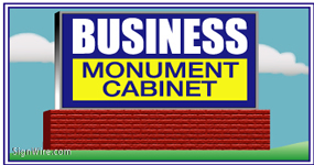 Outdoor Lighted 4'x8' Monument Sign