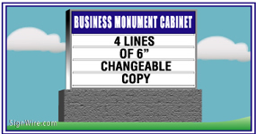 Outdoor Lighted 4'x6' Changeable Copy Monument Sign