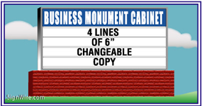 Outdoor Lighted 4'x8' Changeable Copy Monument Sign