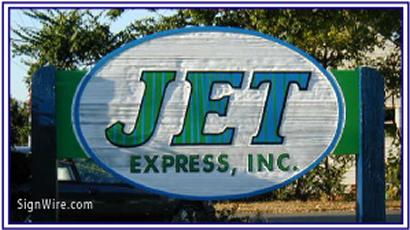 JET Express Sandblasted Sign