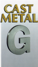 Cast Metal Dimensional Letters