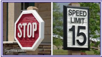 Directional Sandblasted Sign