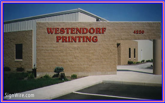 Westendorf Printing Flat Cut Acrylic Lettering