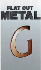 Flat Cut Metal Dimensional Lettering