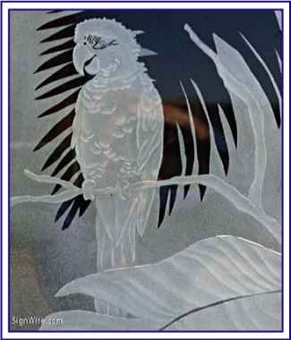 Etched Glass Image