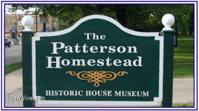 The Patterson Homestead Sandblasted Sign