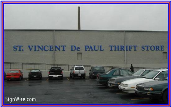 St Vincent De Paul Store Injection Molded Letters