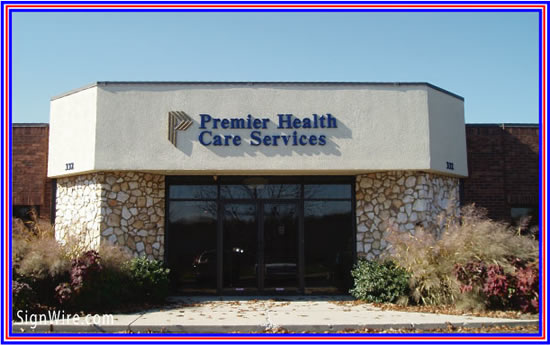 Premier Health Care Services Injection Molded Lettering