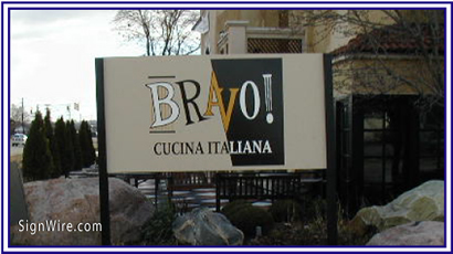 Bravo Cucina Italiana MDO Sign
