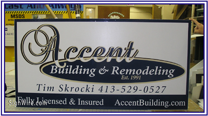 Accent Building and Remodeling MDO Sign