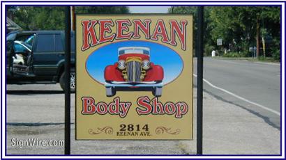 Keenan Body Shop MDO Sign