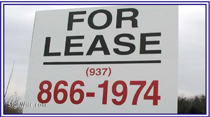 For Lease MDO Sign