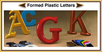 Formed Plastic Dimensional Lettering