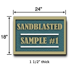 Sandblasted Sign Sample Pricing