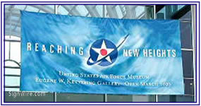 Reaching New Heights Air Force Museum Banner