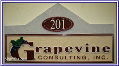 Grapevine Consulting Sandblasted Sign