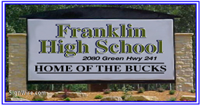 4x6 Outdoor Lighted Monument School Sign Cabinet