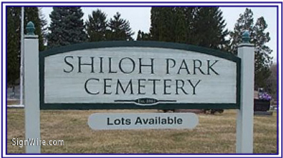 Shiloh Park Sandblasted Sign