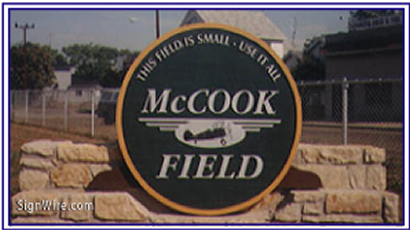 McCook Field Sandblasted Sign