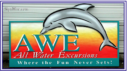 All Water Excursions Sandblasted Sign