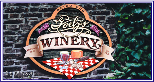 Winery Sandblasted Sign