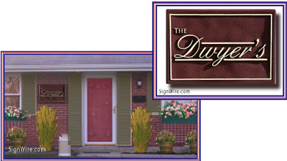 The Dwyer's Sandblasted Sign