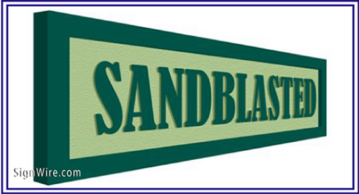Sandblasted Sign Sample