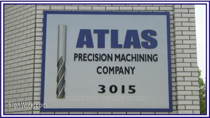Atlas Precision Machining Company PVC Sign