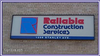 Reliable Construction Services PVC Sign