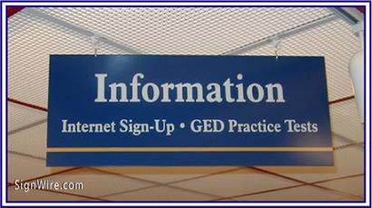 Information Desk PVC Sign