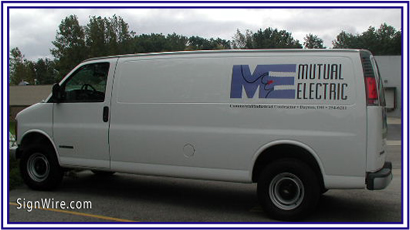 Mutual Electric Vehicle Lettering
