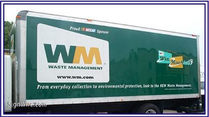 Waste Management Vehicle Lettering