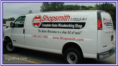 Shopsmith Vehicle Lettering
