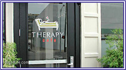 Therapy Cafe Vinyl Graphics
