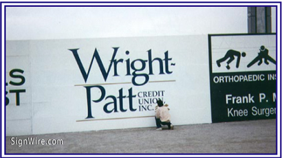 Wright Patt Credit Union Vinyl Graphics