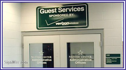 Nutter Center Guest Services Vinyl Graphics