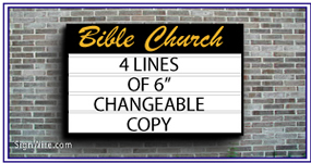4x6 Outdoor Lighted Wall Church Sign Cabinet with Changeable Copy
